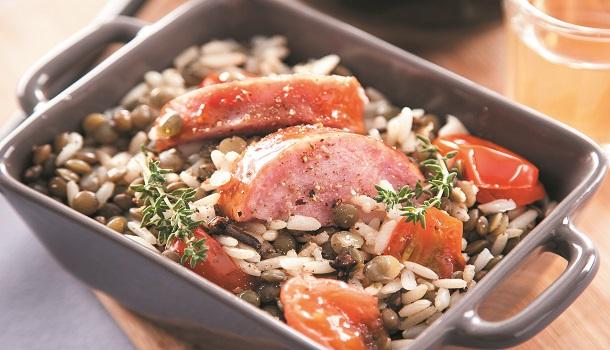 Recette riz et lentilles