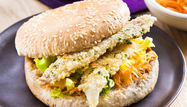 Recette de Burger de poisson pané maison